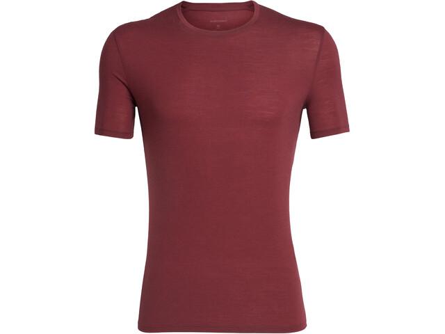 Icebreaker Anatomica T-shirt Herrer, cabernet